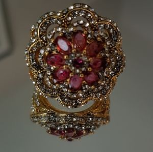 Gold Boho art deco ring